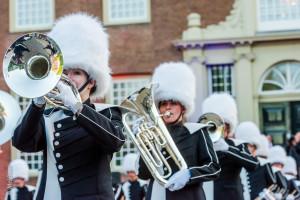 Stichting Muziekstad Zeist orgganiseerde voor de 3de keer de taptoe op het voorplein van Slot Zeist